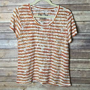 Onque Casuals Burnout material orange/cream L